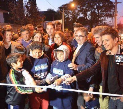 El Intendente y la Gobernadora inauguraron la flamante avenida Latzina