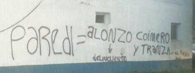 El destacamento de Mar Chiquita amaneció con un mensaje para Alonso y Paredi
