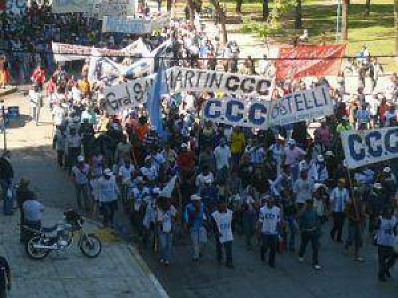 La marcha campesina ingresará esta mañana hasta la Casa de Gobierno