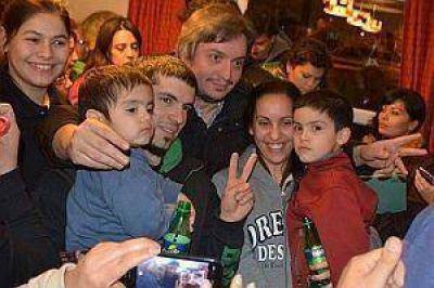 Máximo Kirchner recorrió El Chaltén y se reunió con vecinos