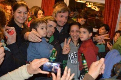 Máximo Kirchner visitó El Chaltén