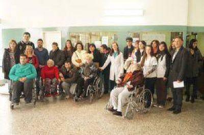 Habilitaron la balanza para personas que se movilizan en sillas de ruedas
