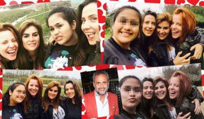 Agustina Kämpfer junto a Rocío, una de las hijas de Jorge Rial: fotos y sonrisas en una ¿presentación familiar?