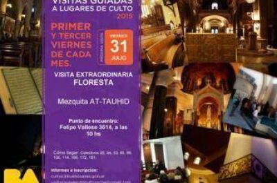 Gobierno de la ciudad de Buenos Aires organiza visita guiada a la mezquita At-Tauhid
