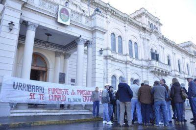 Productores rurales instalaron su protesta en la Casa Gris