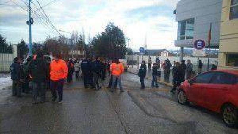 Protesta en la calle de los empleados municipales