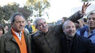 Scioli y Aníbal Fernández en los festejos de Baradero