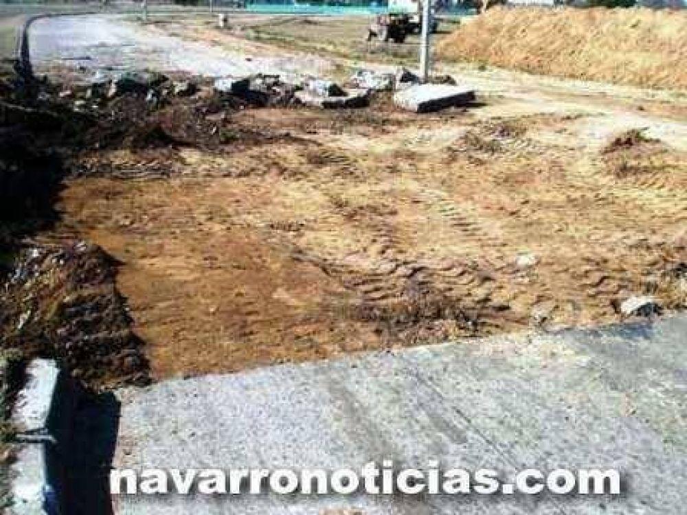 Reparan la rotonda de ruta 47, acceso a Navarro
