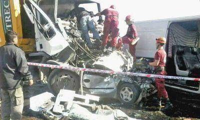 Cuatro piquenses murieron en un choque en cadena al ingresar a C�rdoba