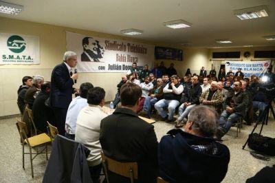 Trankels se reunió con el precandidato a gobernador Julián Domínguez