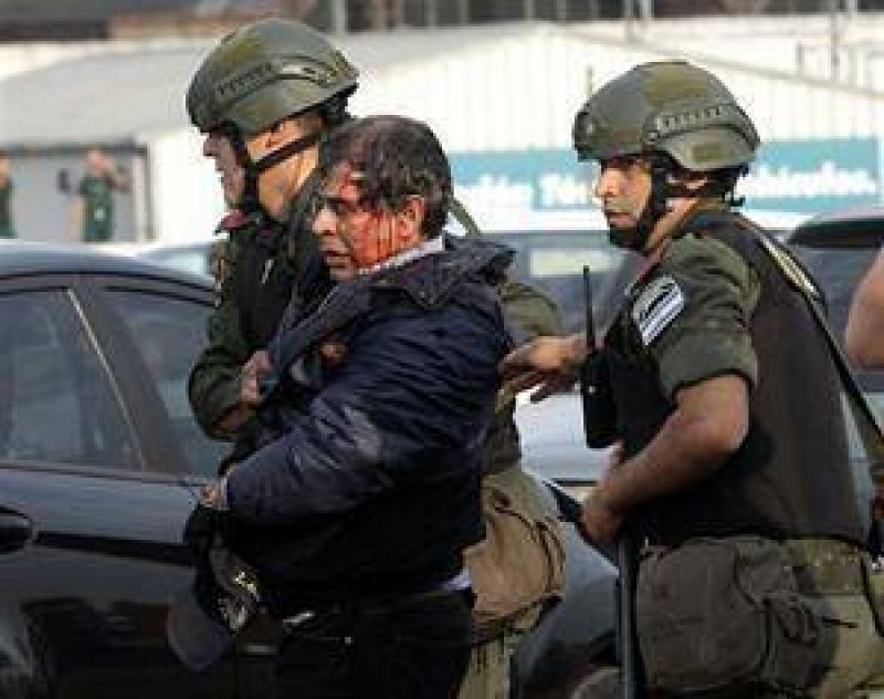 Batalla campal en la Panamericana por una protesta de la línea 60