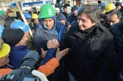 Máximo, a los mineros de Río Turbio: