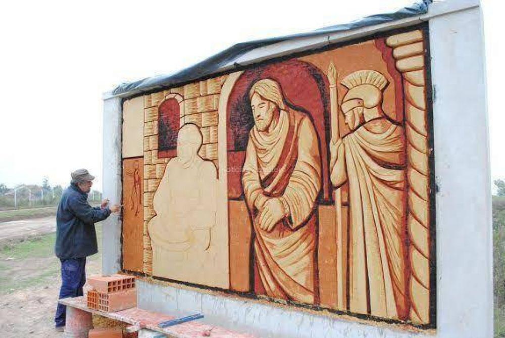 Inauguran vía crucis por el aniversario de la ciudad de Baradero