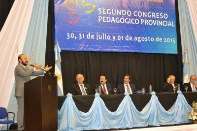 Insfran y Alberto Sileoni inauguraron Segundo Congreso Pedagógico