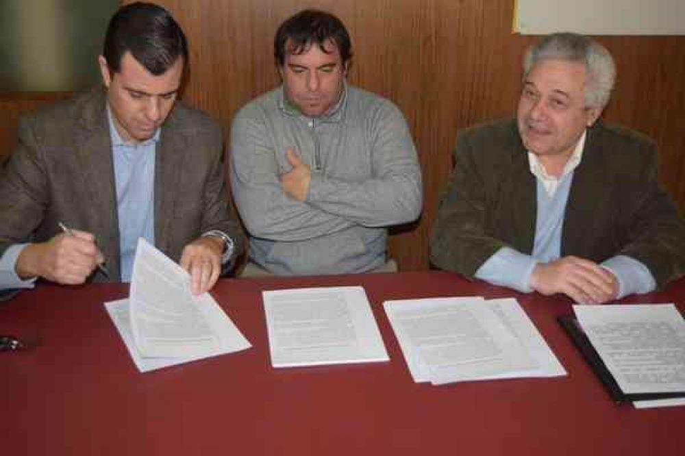 Conti y Lapenta firmaron una concertación política