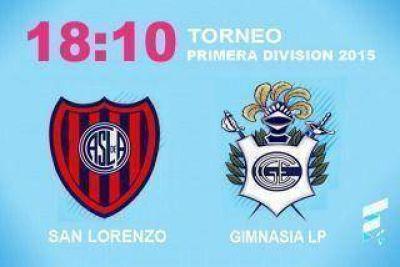 San Lorenzo va por la punta ante un afilado Gimnasia y Esgrima La Plata