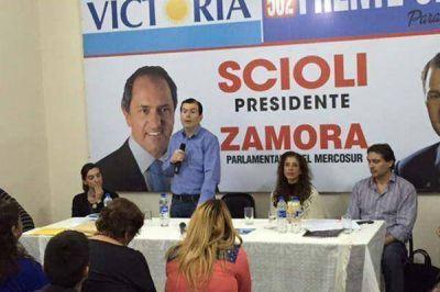 Zamora aseguró que Daniel Scioli será el próximo presidente de los argentinos