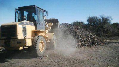La remediación del basural en Cortaderas tiene un avance del 90%
