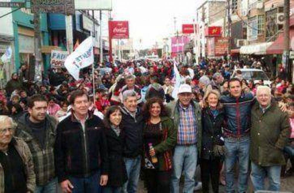 El Frente Popular cierra frente a Gobernación