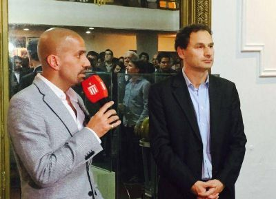 Pablo Bruera y Juan Sebastián Verón en los 110 años del Club Estudiantes de La Plata