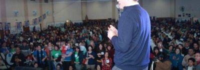 Gustavo Trankels cerró su campaña ante una multitud