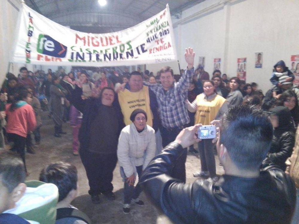 Cisneros cerró su campaña