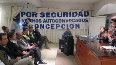Jiménez participó de una reunión con vecinos en Concepción por la inseguridad