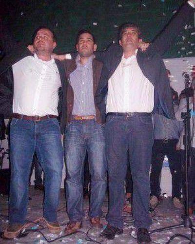 """Barraza, Casanovas y García: """"Juntos somos el triunfo"""""""
