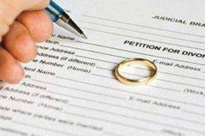 Divorcios: en la provincia han ingresado 7 demandas, entre nuevas y adecuaciones