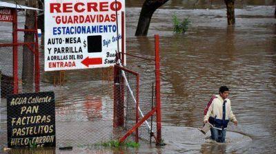 Hay 1600 evacuados en la Provincia por el temporal
