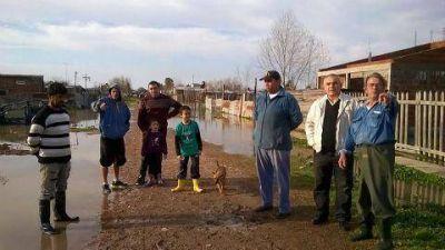 Celi en los barrios luego de la lluvia