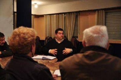 Nedela dialogó con los directivos de la Federación de Entidades de Bien Público