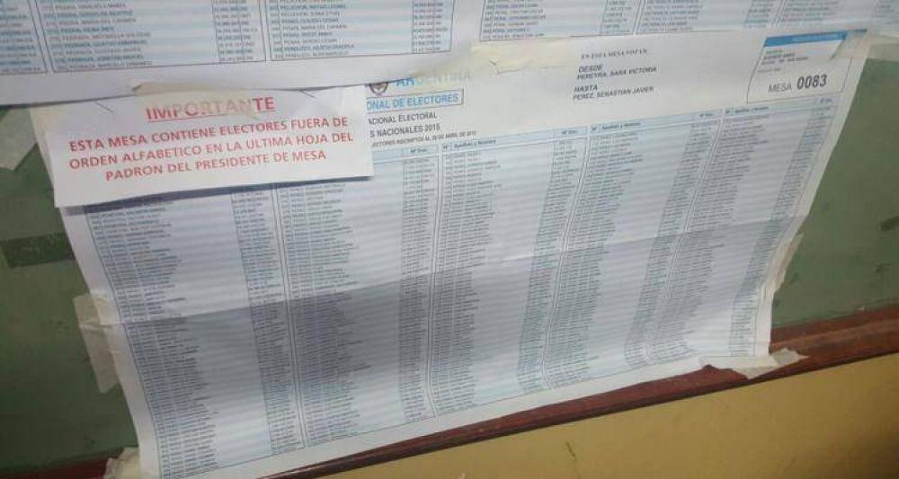 Paso 2015: Errores en los padrones de las escuelas 11 y 4