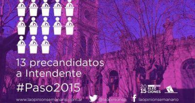 Paso 2015: En San Pedro, 13 precandidatos