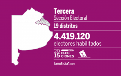 Elecciones Paso 2015: Tercera sección elige candidatos para octubre