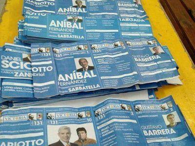 El ex intendente Rodríguez Erneta espera los resultados en el bunker del PJ