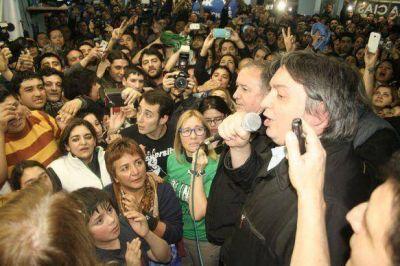 Máximo festejó el triunfo en Santa Cruz y la ventaja sobre Macri y Massa