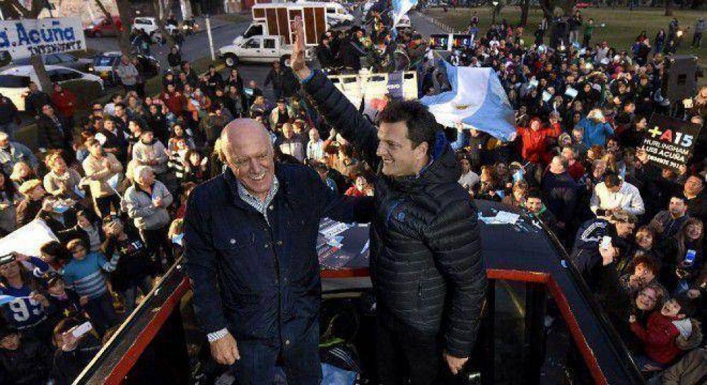 Retroceso de Massa en la provincia: Podría perder ocho municipios
