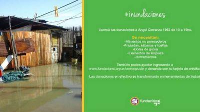 A dónde llevar donaciones para los afectados por las inundaciones