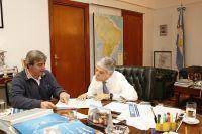 De Vido analizó obras con el intendente de San Antonio de Areco