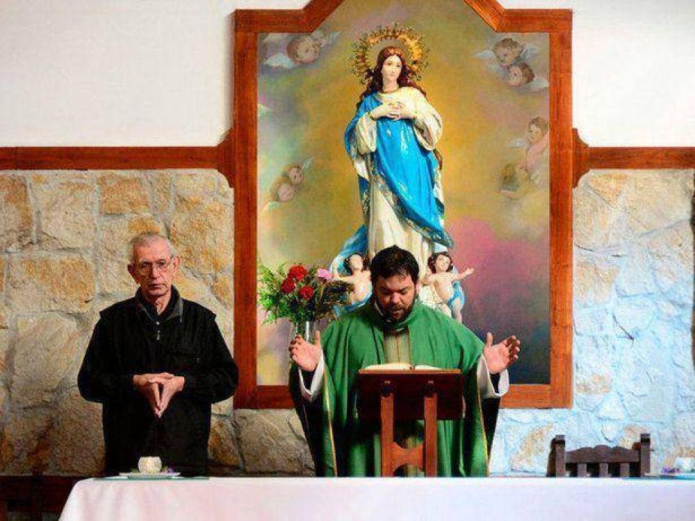 Celebraron misa por la Virgen de la Luz