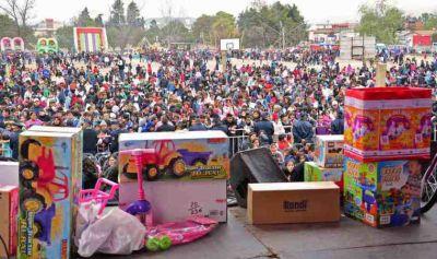 Con un inolvidable festejo, miles de chicos celebraron el Día del Niño