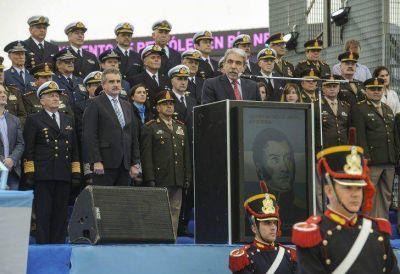 Sin Cristina, el homenaje a San Martín quedó en manos de Aníbal F. y Rossi