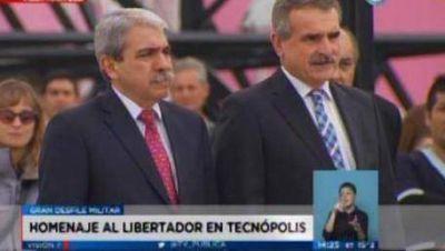 Aníbal encabezó el acto por San Martín en Tecnópolis