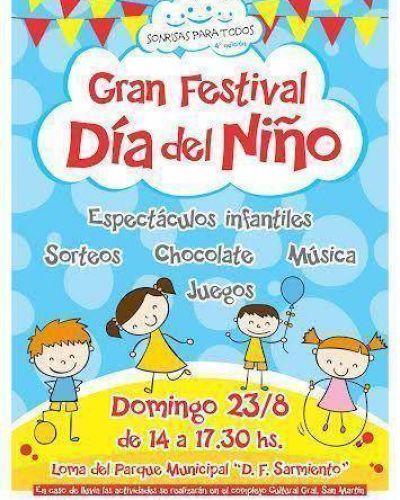 El próximo domingo se realizará el Festejo del Día del Niño en el Parque Municipal