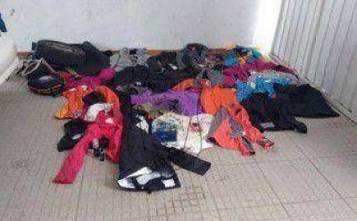Neuquén: Cinco chilenos detenidos por robar ropa en centros turísticos