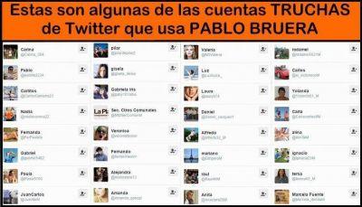 Después de la denuncia de Scioli ¿Bruera dará de baja sus 150 cuentas truchas de twitter?