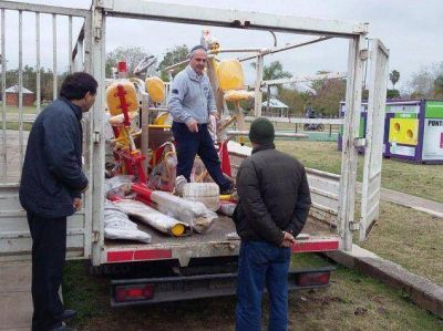 Instalarán aparatos de gimnasia en el Parque Central de Morteros