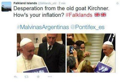 Malvinas | La reacci�n de los kelpers ante la foto del Papa: �Esperando una disculpa de @Pontifex