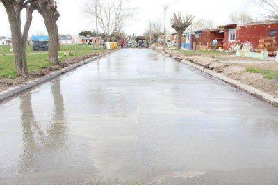 Comenzó la obra de pavimento en el barrio 05 Olga Albarracín de Coronel Vidal